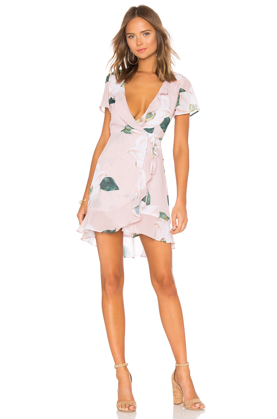 Show Me Your Mumu Winnie Wrap Dress in Southern Magnolia
