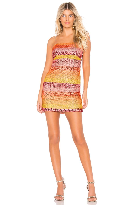 Show Me Your Mumu Clarissa Dress in Fiesta Sunset Stripe