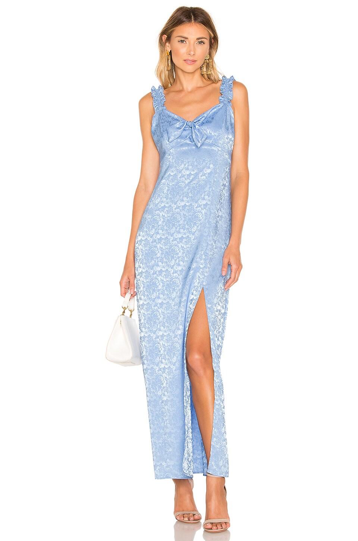 Show Me Your Mumu Audra Maxi Dress in Santorini Jacquard