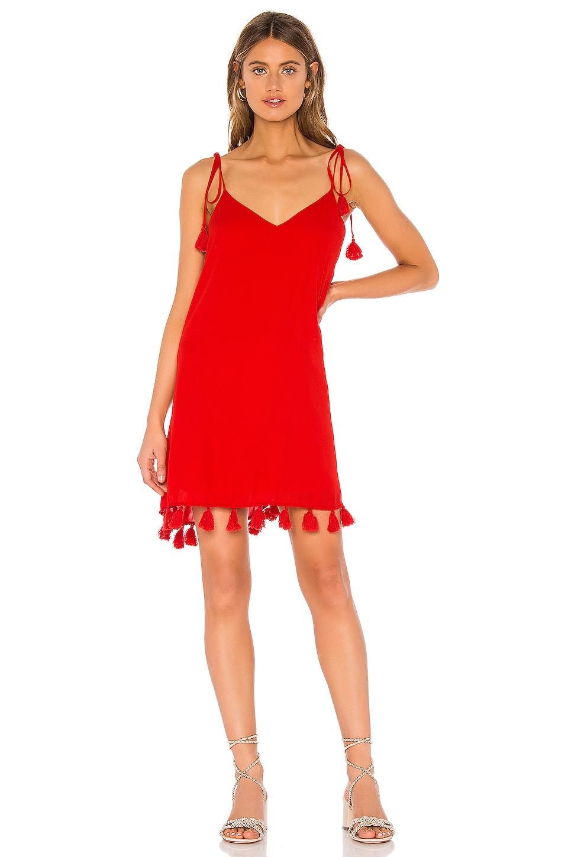 Show Me Your Mumu X REVOLVE Throw And Go Tassel Mini Dress in Bonfire