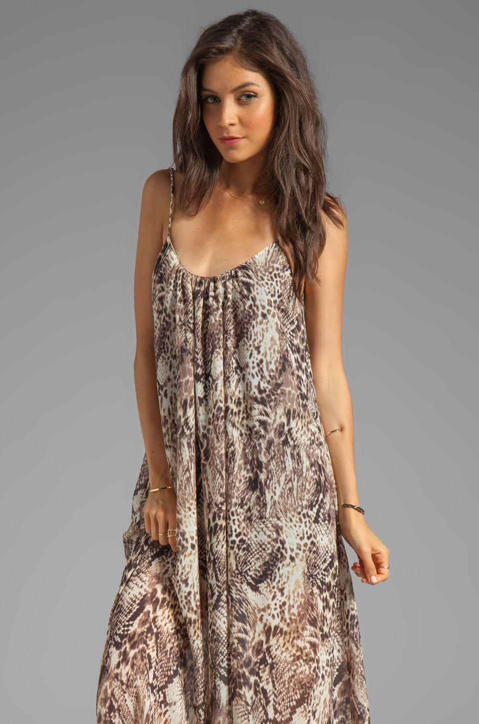 Show Me Your Mumu Trapeze Maxi in Leopard Snake