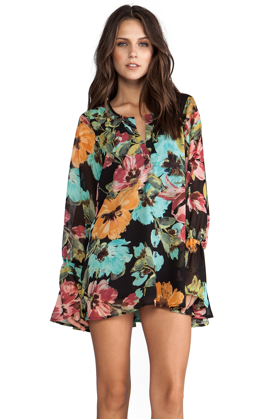 Show Me Your Mumu Perveen Pirate Tunic in Flower Paint