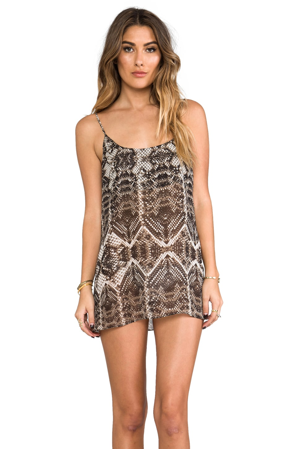 Show Me Your Mumu Estella Slip Dress in Snake Bling