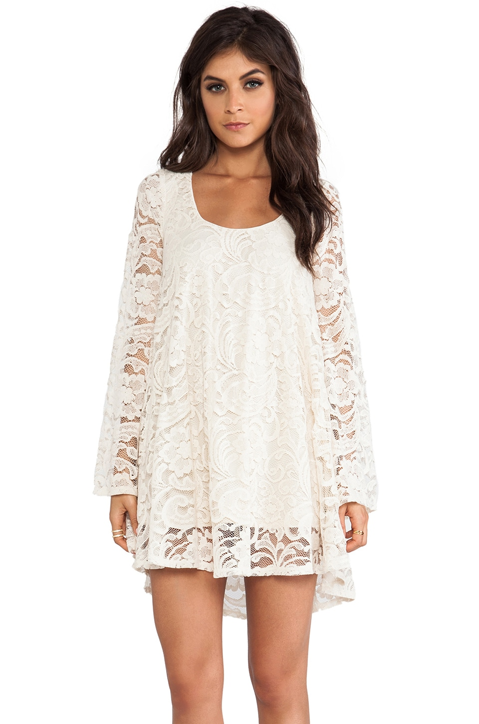 Show Me Your Mumu Fannie Flow Dress in Iola Lace Natural