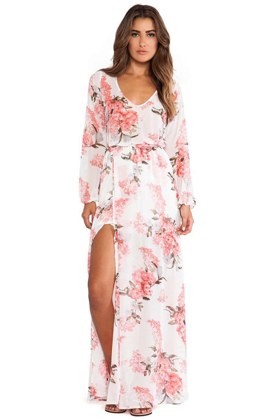 436010cd05f3f Show Me Your Mumu Jocelyn Maxi Dress in Blossom Blush | REVOLVE