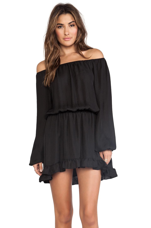 Show Me Your Mumu Lee Lee Ruffle Dress in Black