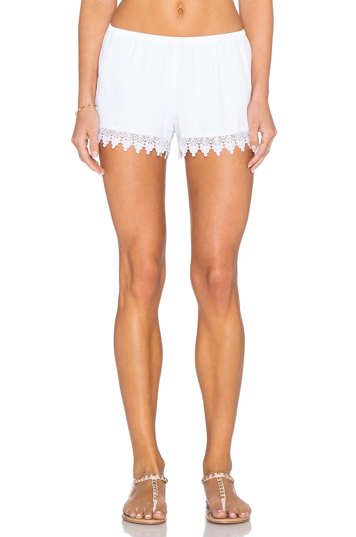 Show Me Your Mumu Bri Lacey Short in White Crisp