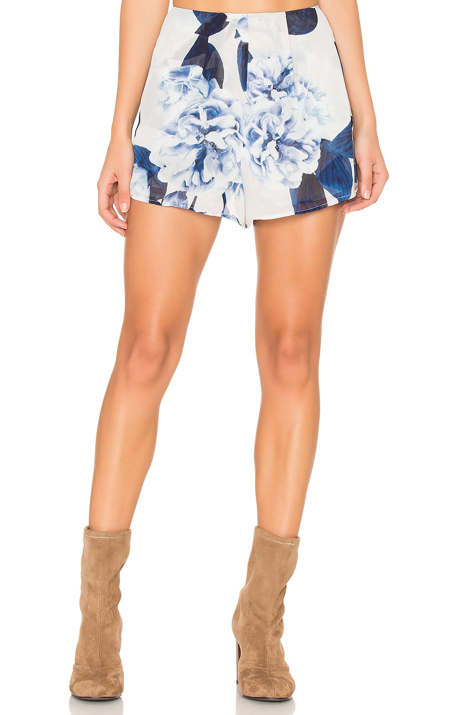 Show Me Your Mumu Sawyer Shorts in Bouquet Blue