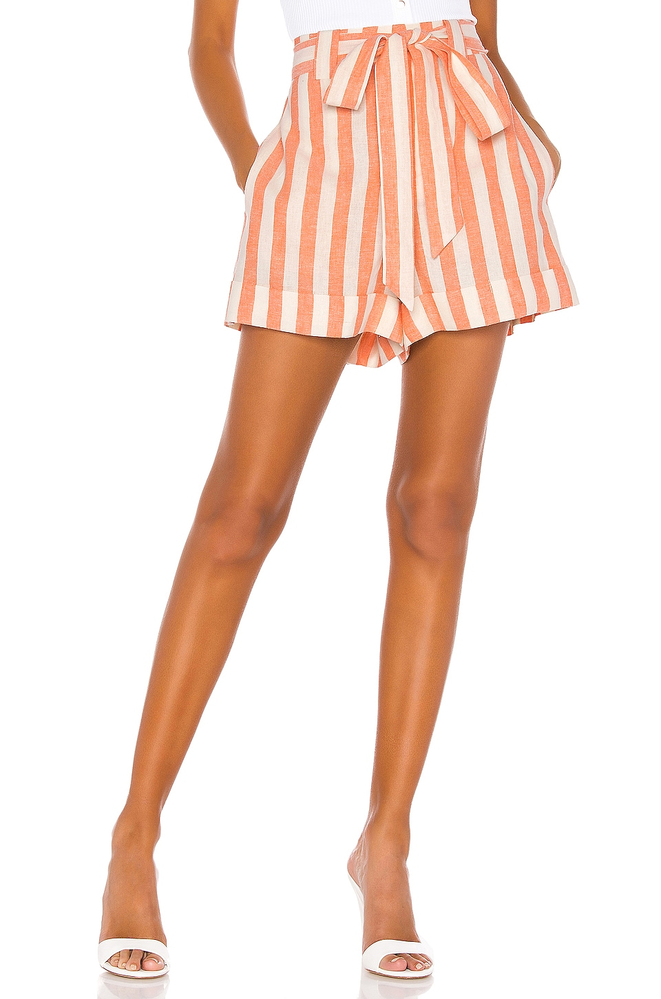 Show Me Your Mumu Hadley Shorts in Dreamsicle Stripe