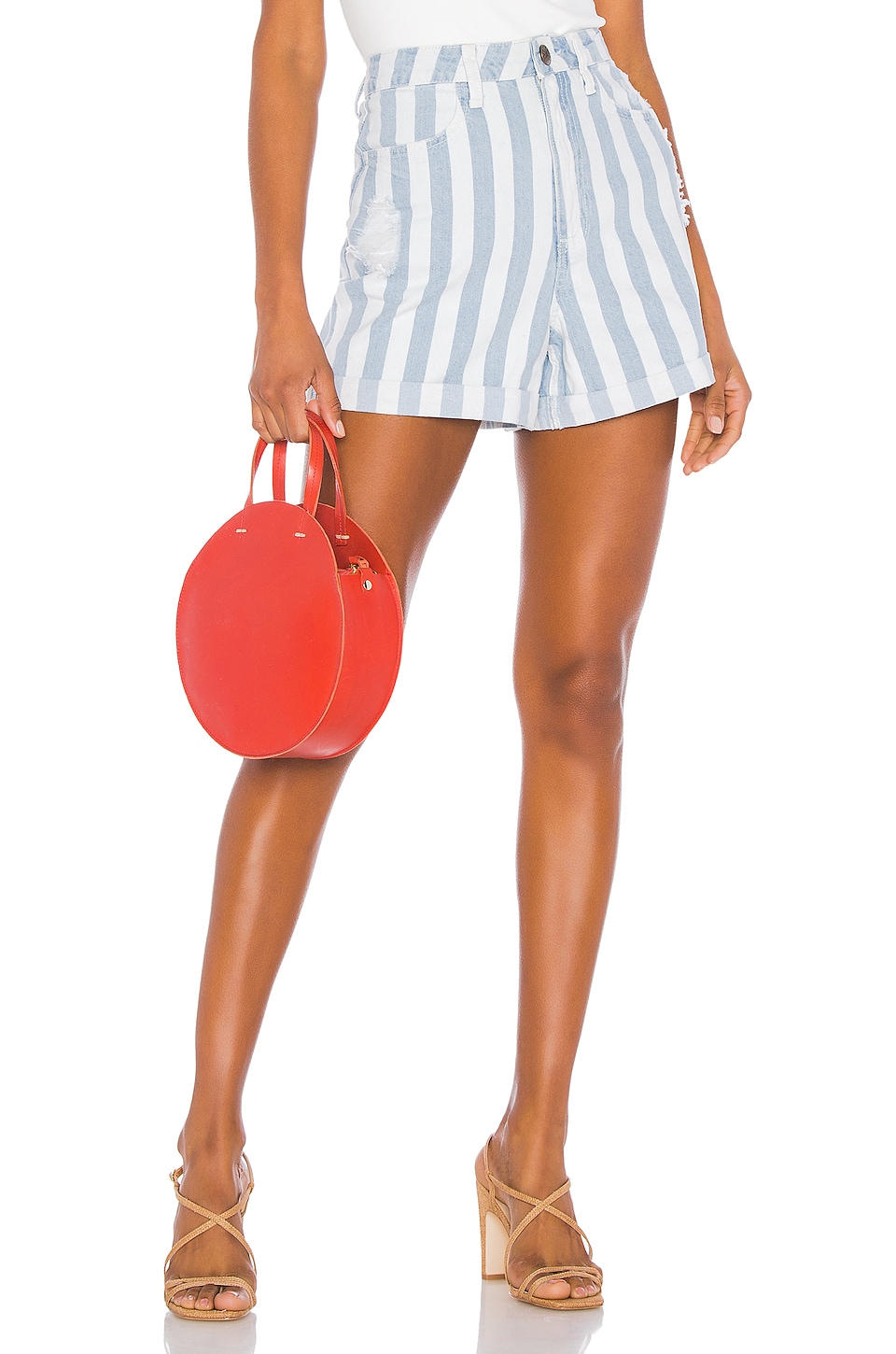 Show Me Your Mumu Raleigh Roll Up Shorts in Marina Stripe