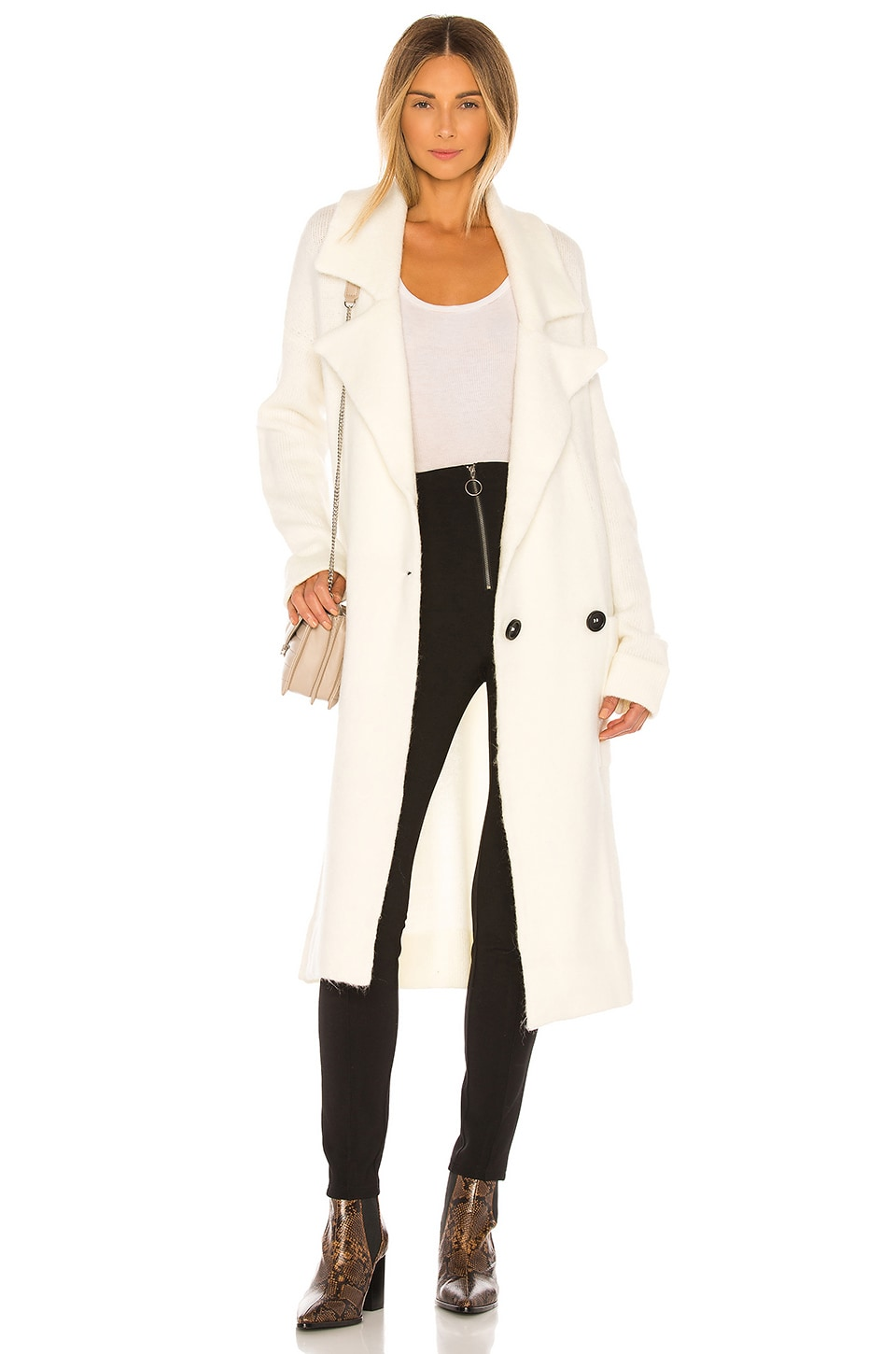 Show Me Your Mumu Melrose Sweater Jacket in Cream Knit