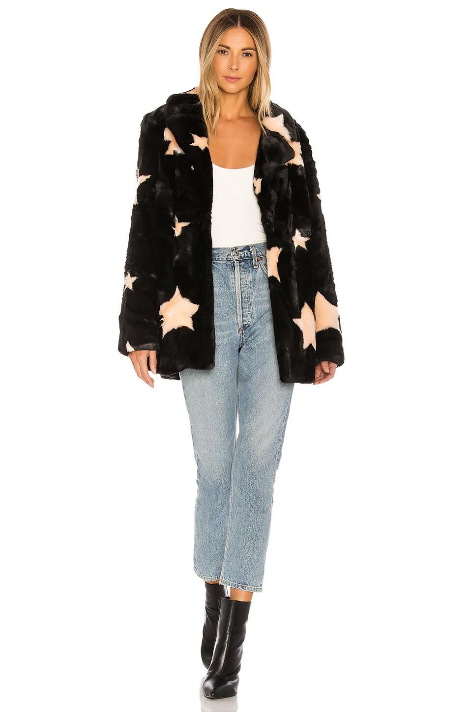 Show Me Your Mumu Colorado Faux Fur Jacket in Starry Daze