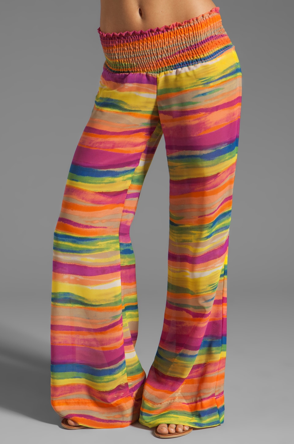 Show Me Your Mumu Tipsy Pant in Sand Art