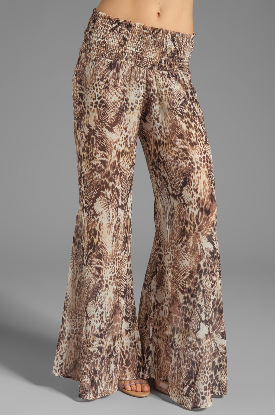 Show Me Your Mumu Roberts Party Pants in Leopard Snake