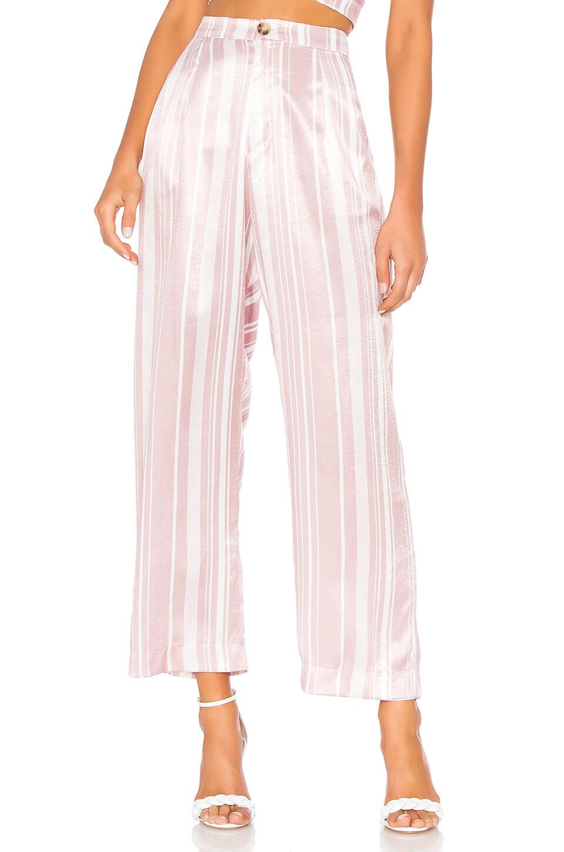 Show Me Your Mumu Kensington Pants in Slipper Stripe Sheen