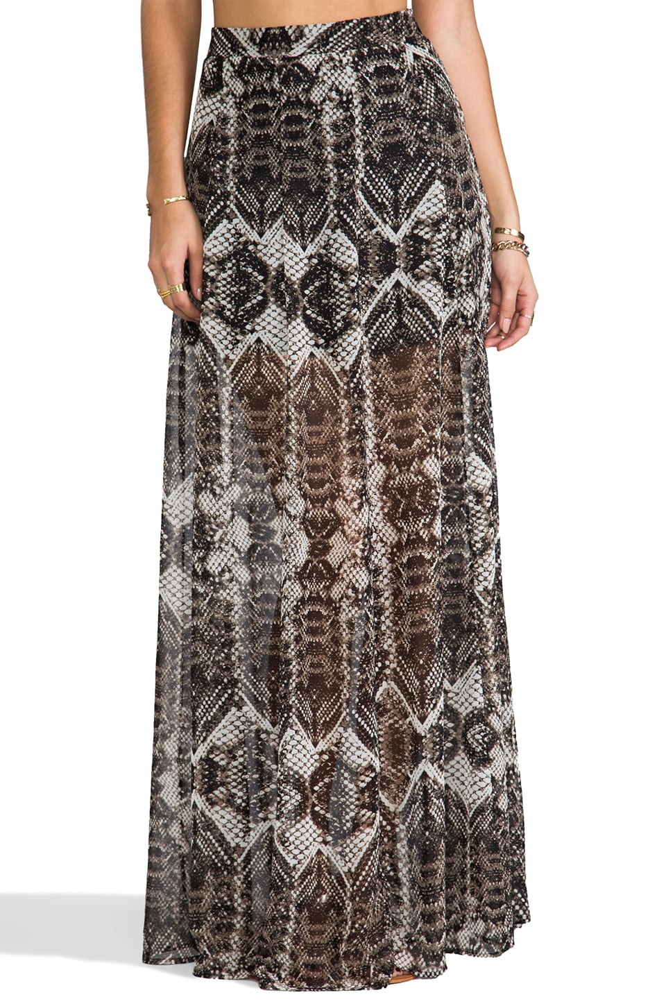 Show Me Your Mumu Princess Ariel Maxi Skirt in Snake Bling