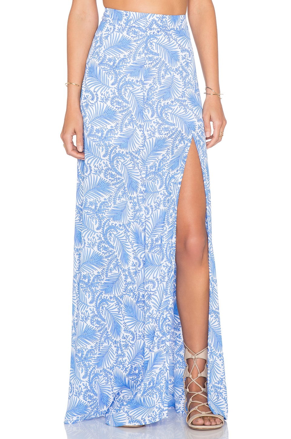 Show Me Your Mumu Mick Slit Skirt in Sea Breeze