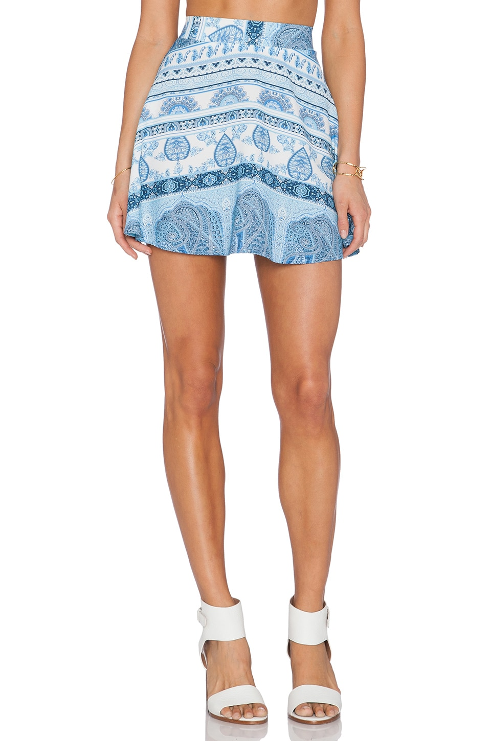 Show Me Your Mumu Camille Skirt in Boho Blue