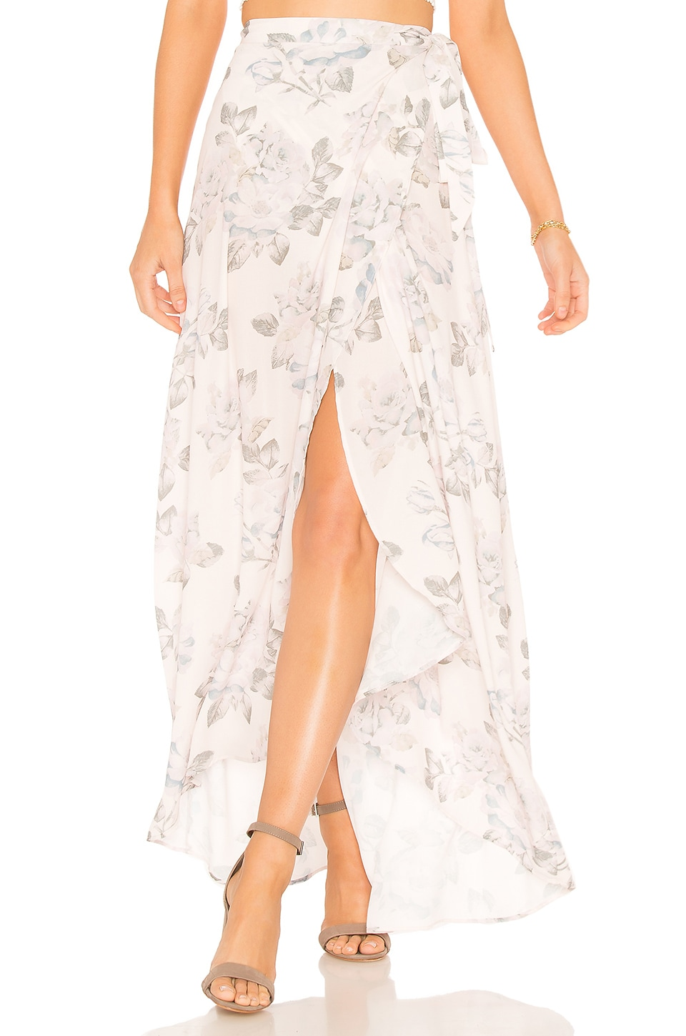 Show Me Your Mumu Siren Wrap Skirt in Everlasting Rose