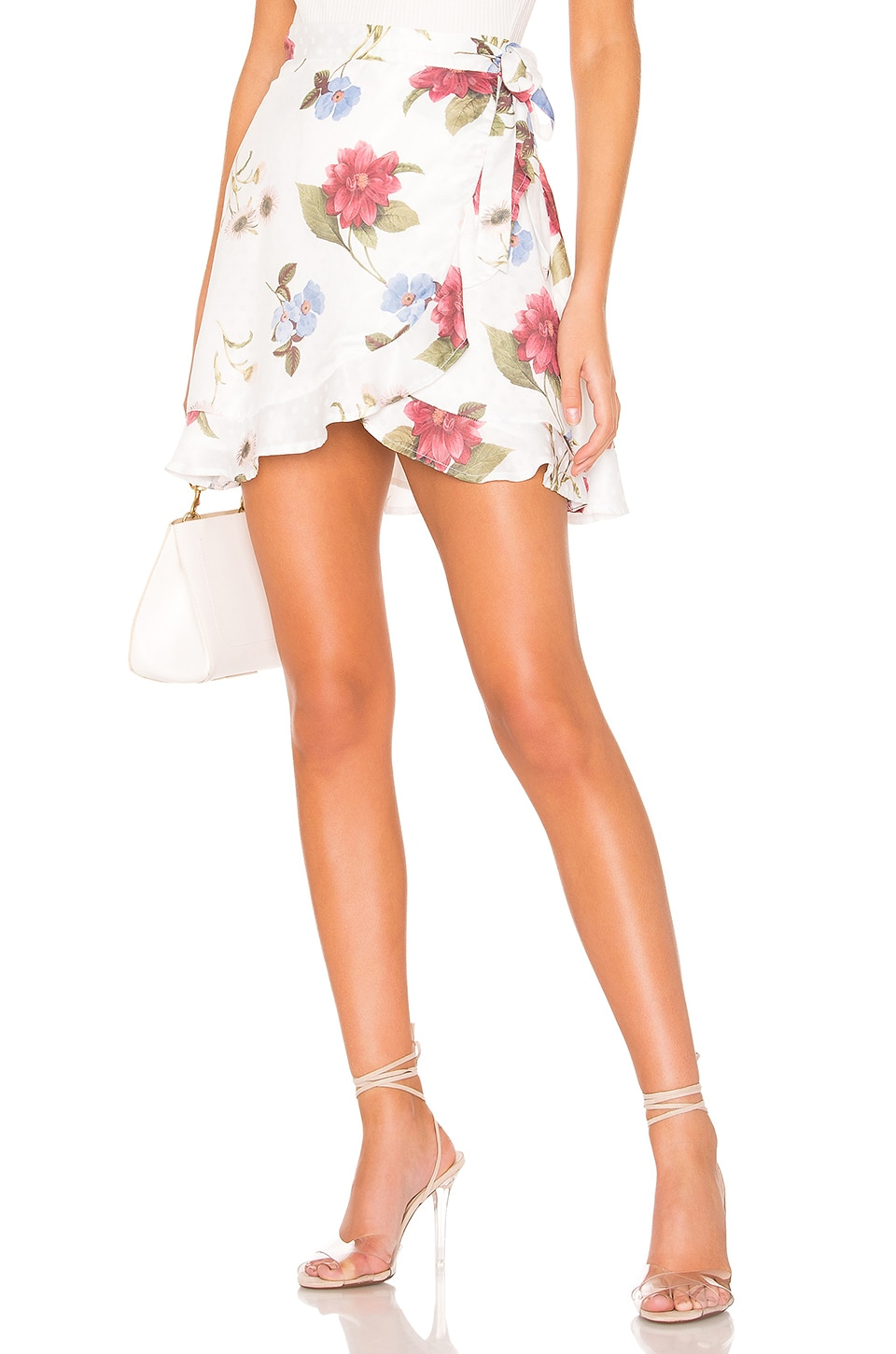 Show Me Your Mumu Skirts SHOW ME YOUR MUMU X REVOLVE ROAM RUFFLE SKIRT IN WHITE.