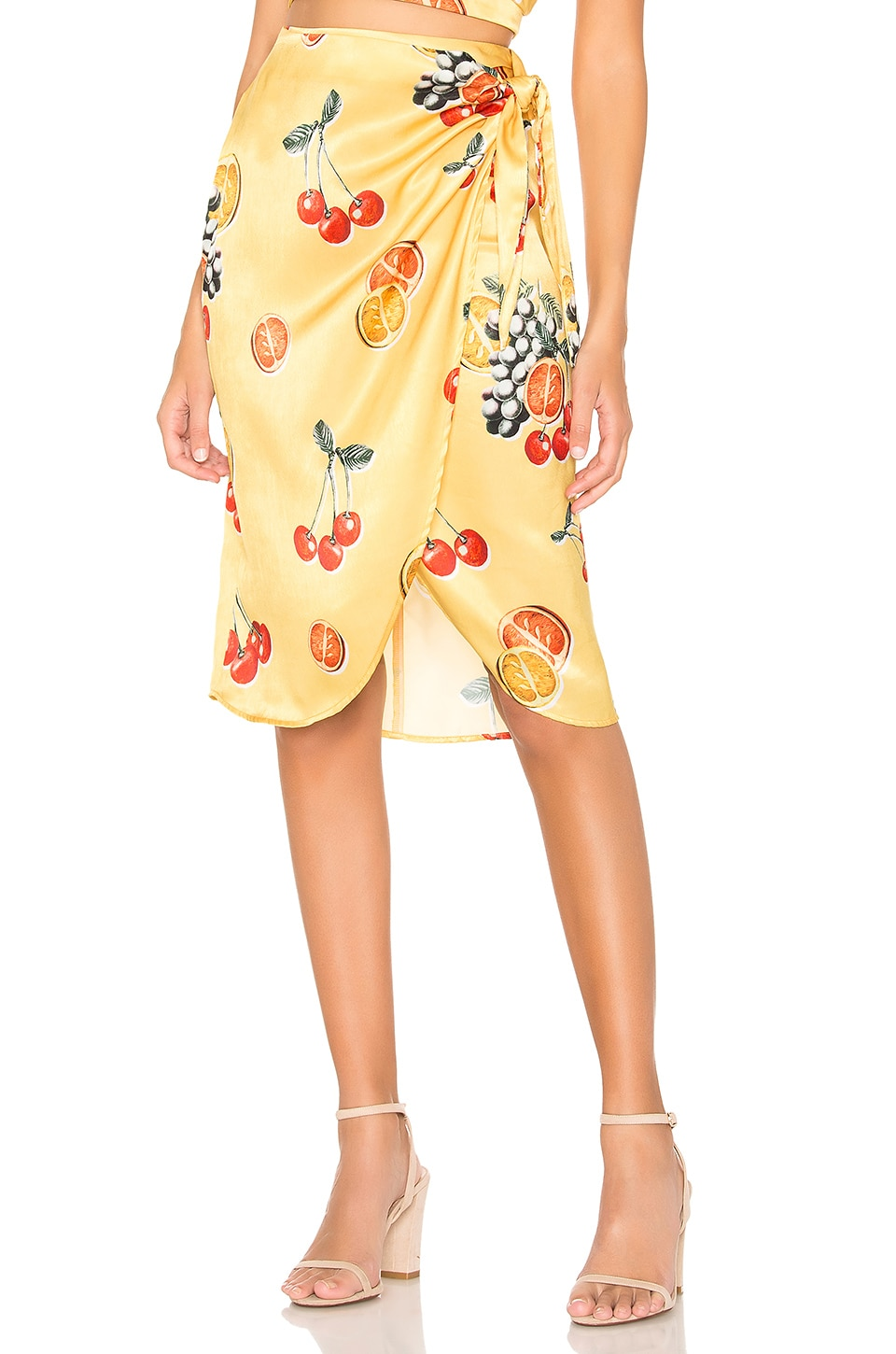 Show Me Your Mumu Anjolie Wrap Skirt in Fruit Basket | REVOLVE