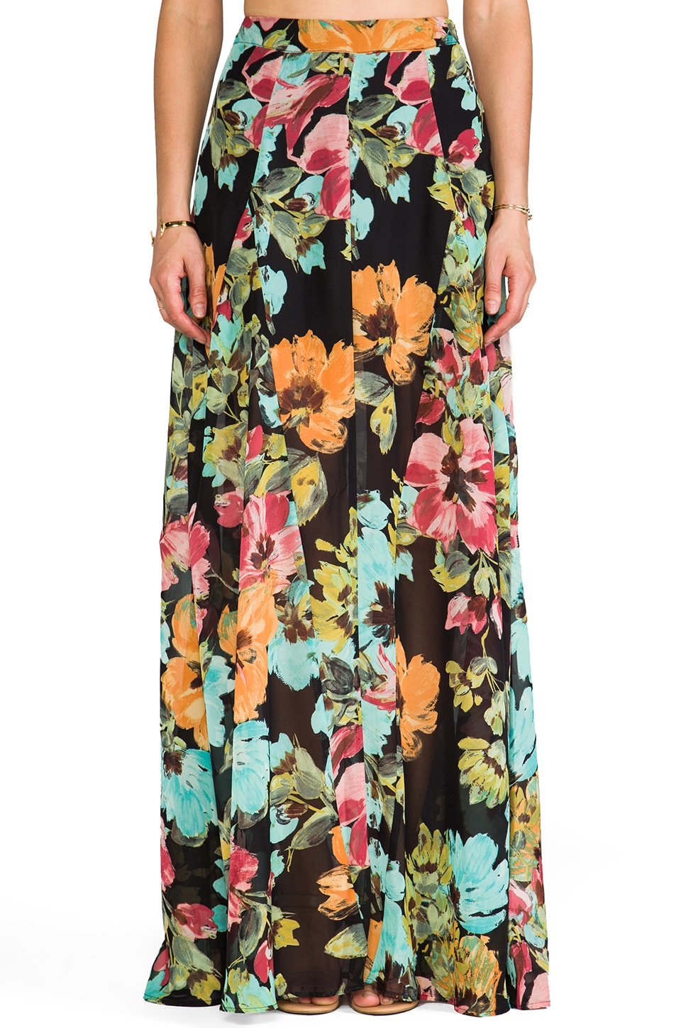Show Me Your Mumu Princess Di Ball Gown Maxi Skirt in Flower Print