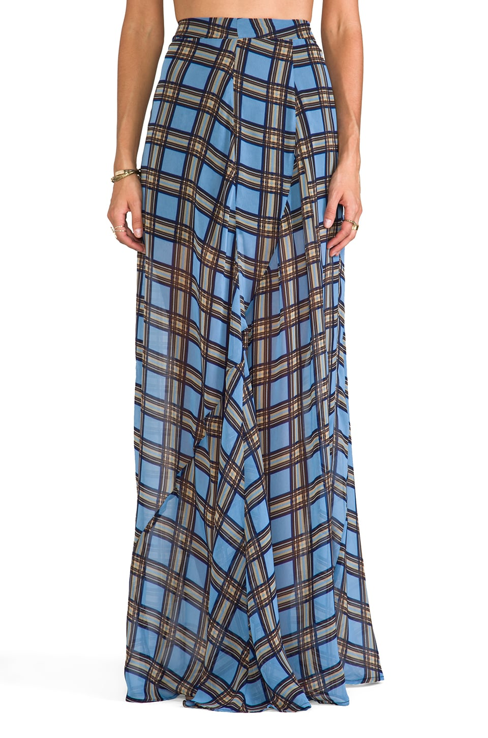 Show Me Your Mumu Princess Di Ball Gown in Preppy Plaid