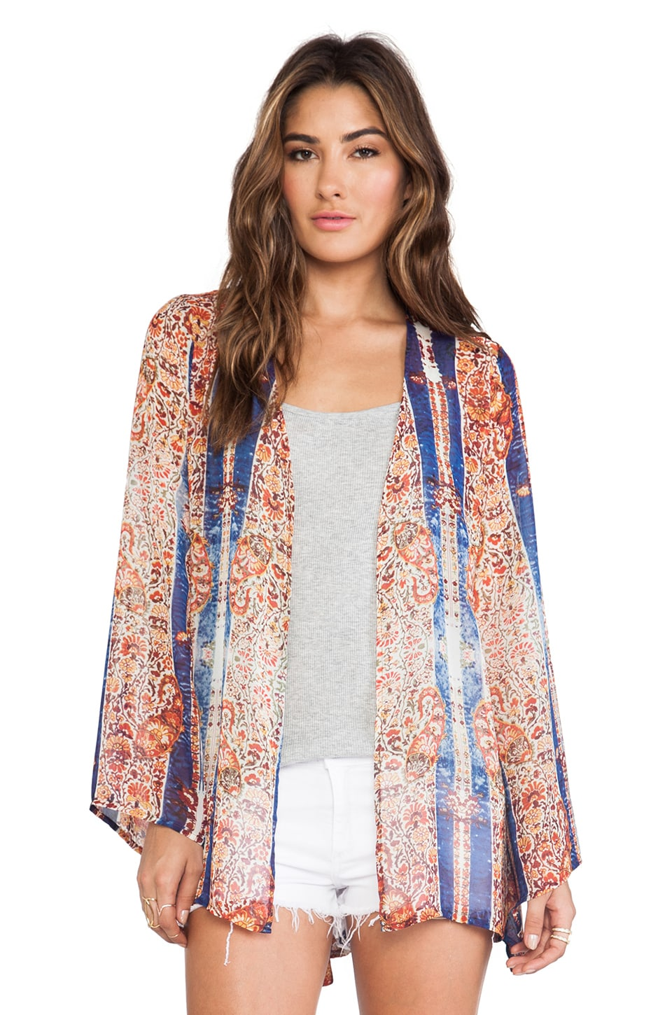 Show Me Your Mumu Beaux Beaux Kimono in Gypsy Dream
