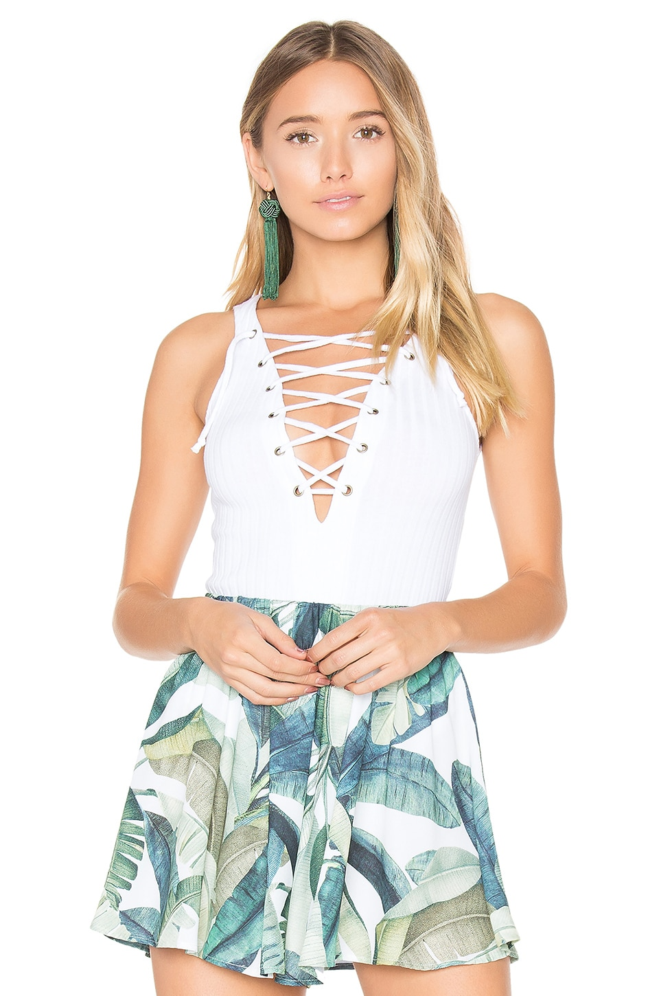 WYATT LACE UP BODYSUIT