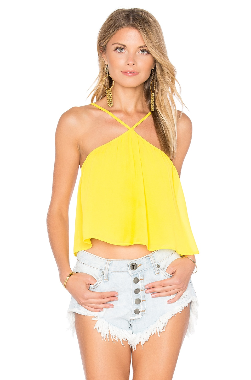 Show Me Your Mumu Lex Top in Daffodil Chiffon