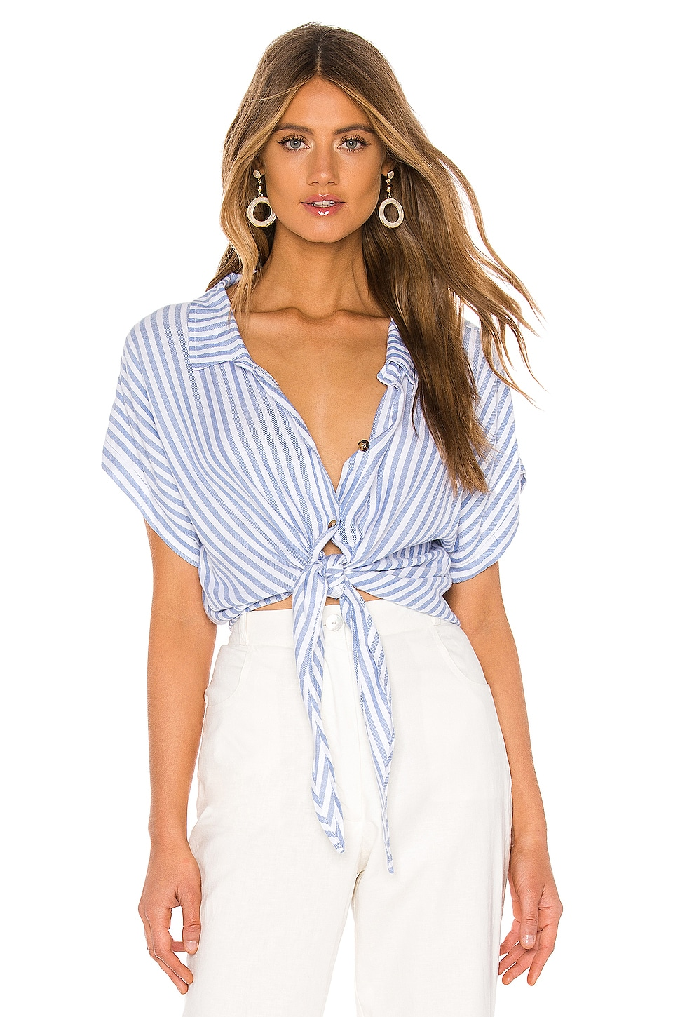 Show Me Your Mumu Mike Top in Anchor Stripe