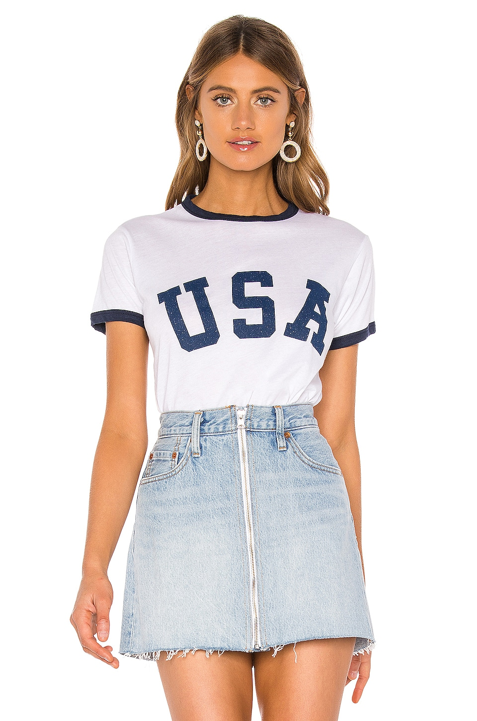 Show Me Your Mumu Recess Ringer Tee in USA Graphic