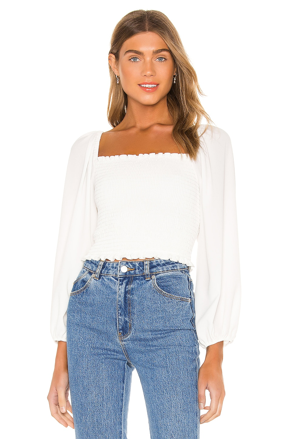 Show Me Your Mumu Mindy Top in White