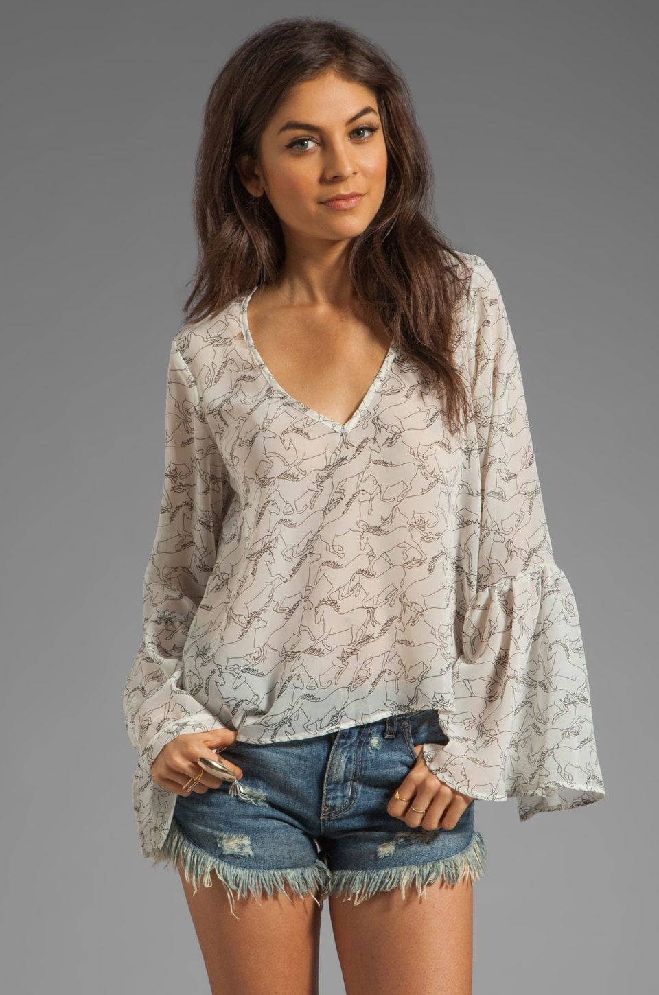Show Me Your Mumu Cauley Top in Wild Horses