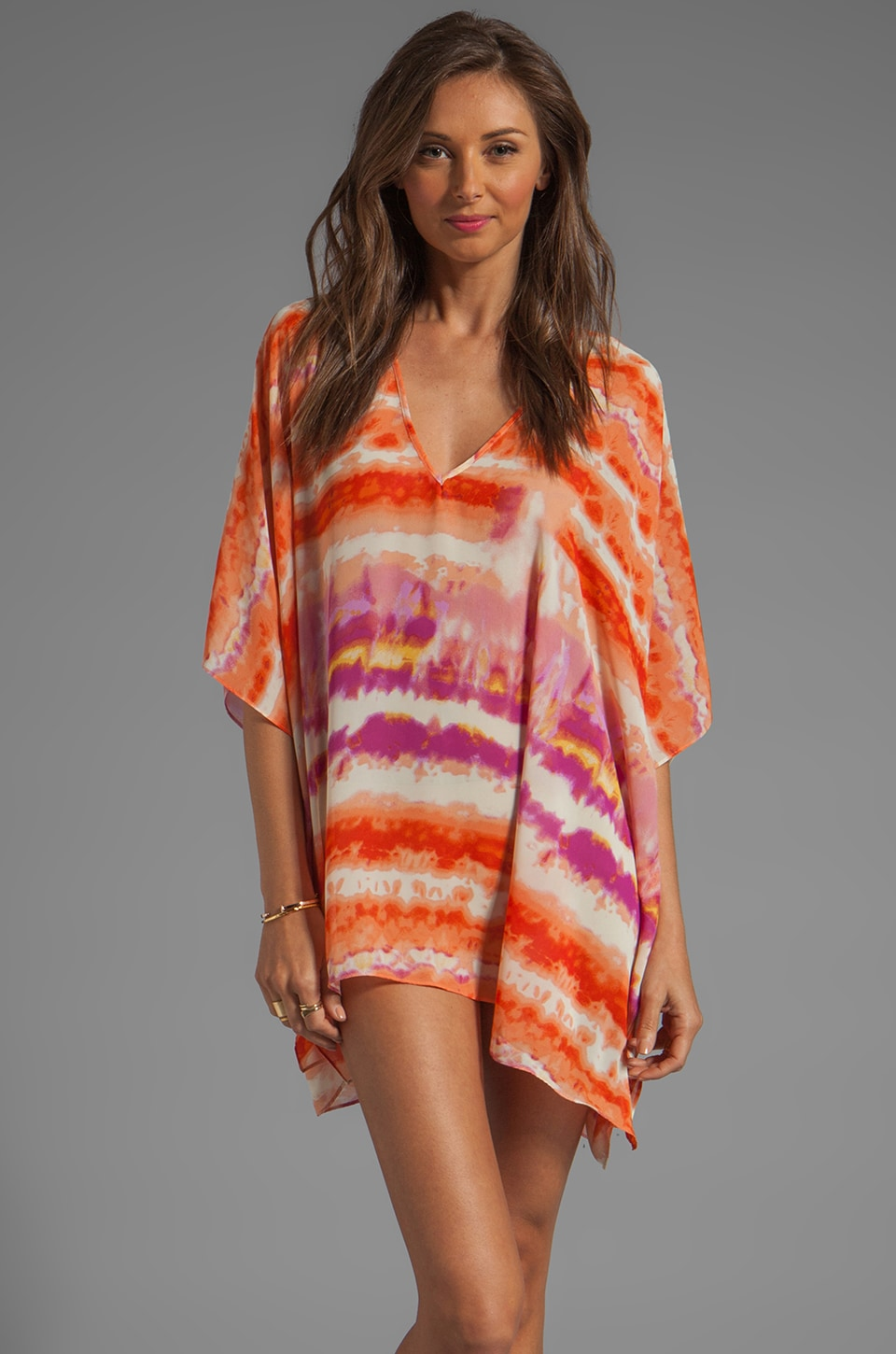 Show Me Your Mumu Peta Tunic in Popsicle Orange