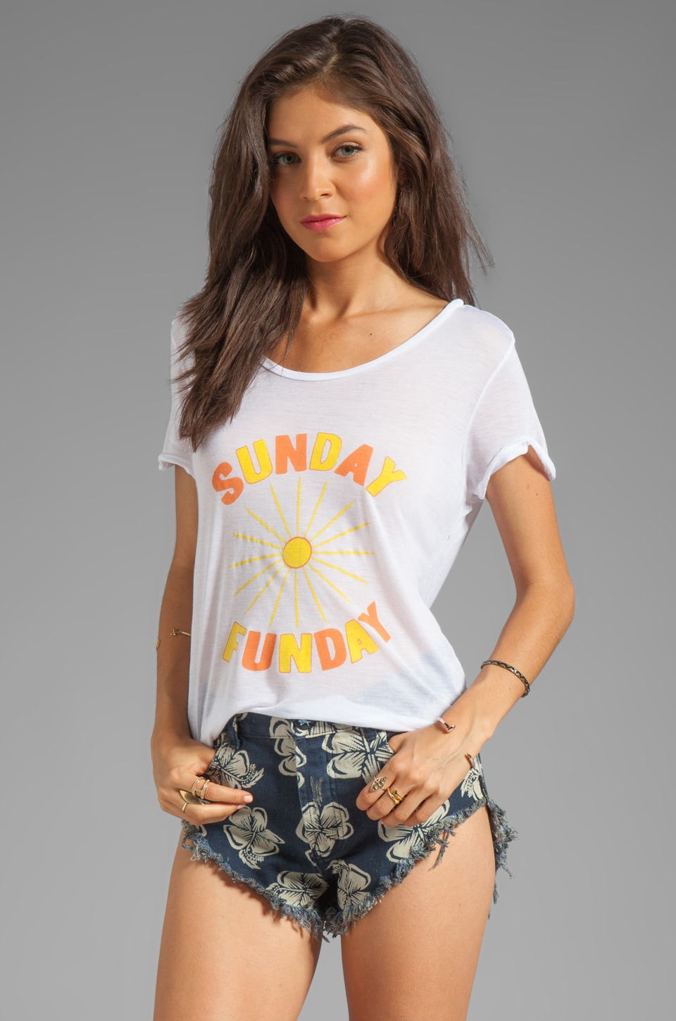 Show Me Your Mumu Graphic Walker Tee in Sunday Funday