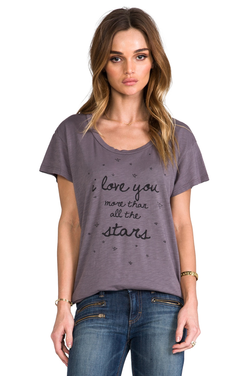 Show Me Your Mumu Momma Graphic Tee in Grey