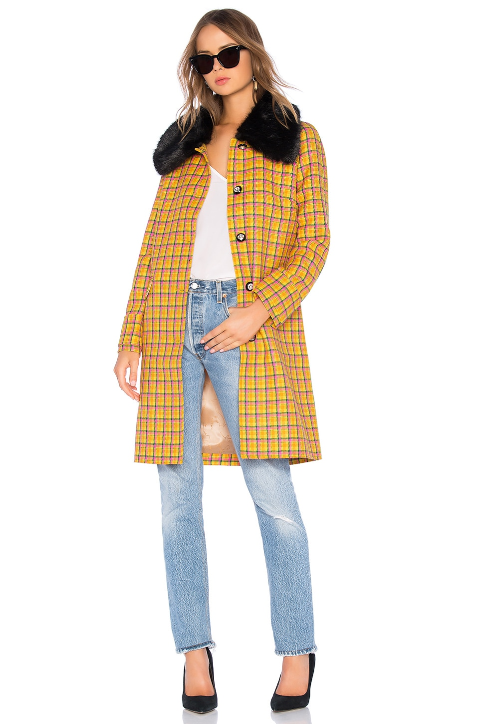 Erin Faux Fur Trim Coat