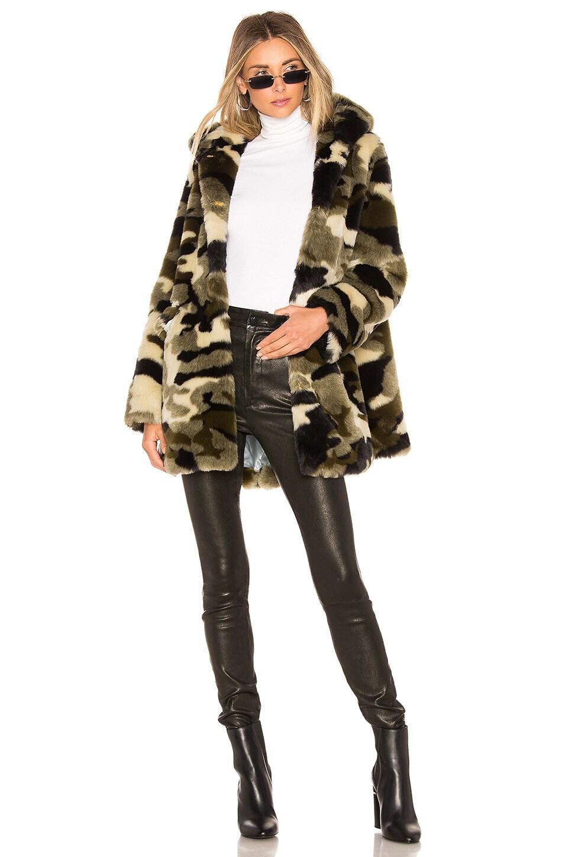 Shrimps Vega Faux Fur Coat in Camouflage