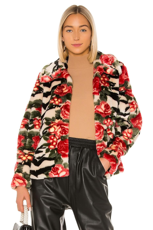 Shrimps Zio Faux Fur Jacket in Tiger Rose