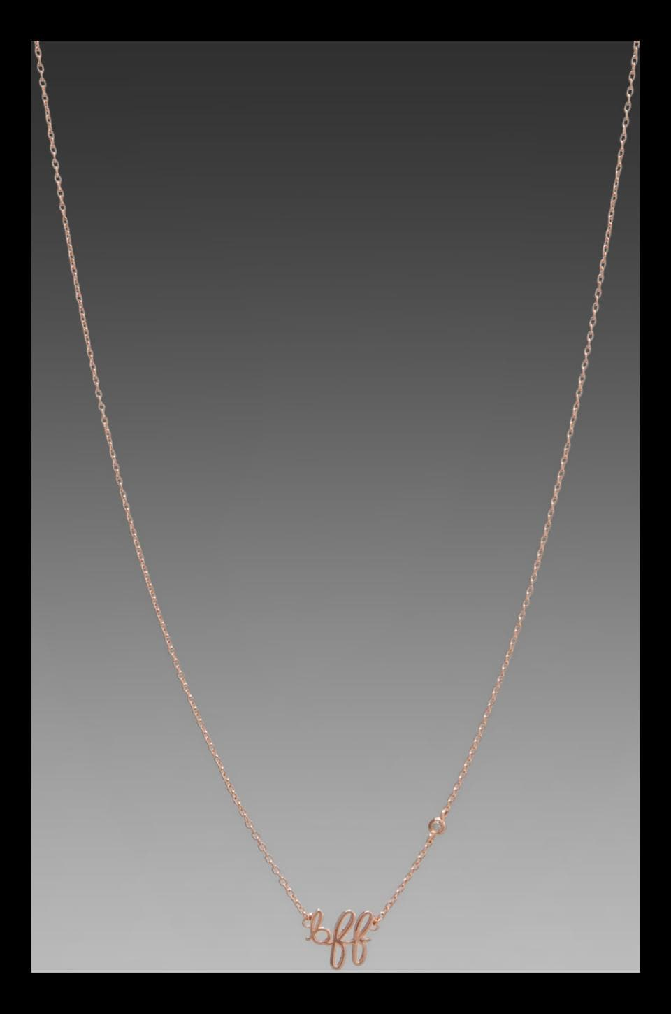 Shy by Sydney Evan BFF Necklace with Diamond Bezel in Rose Gold