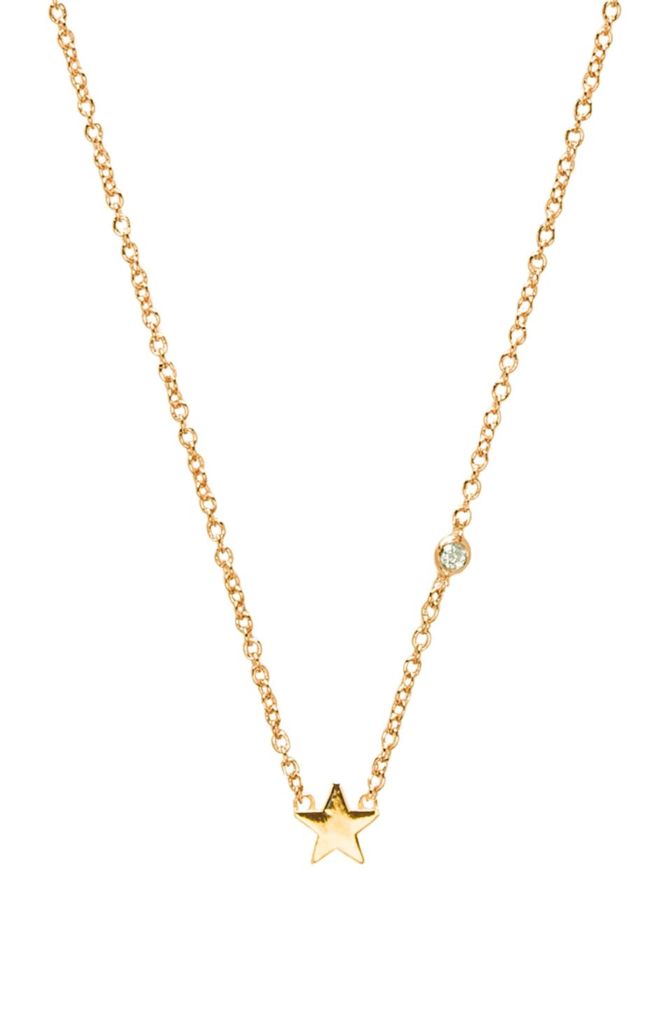 Shy by Sydney Evan Star Necklace with Diamond in Yellow Gold