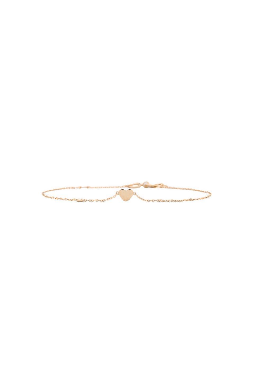 Shy by Sydney Evan Heart Bracelet with Diamond Bezel in Yellow Gold