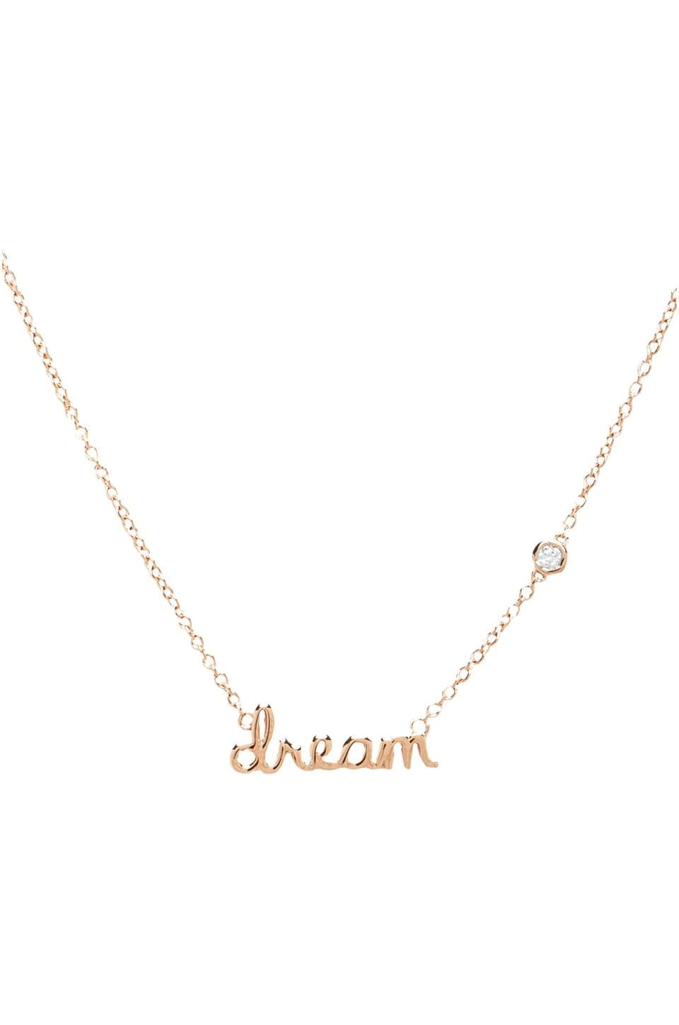 Shy by Sydney Evan Dream Necklace with Diamond Bezel in Rosegold