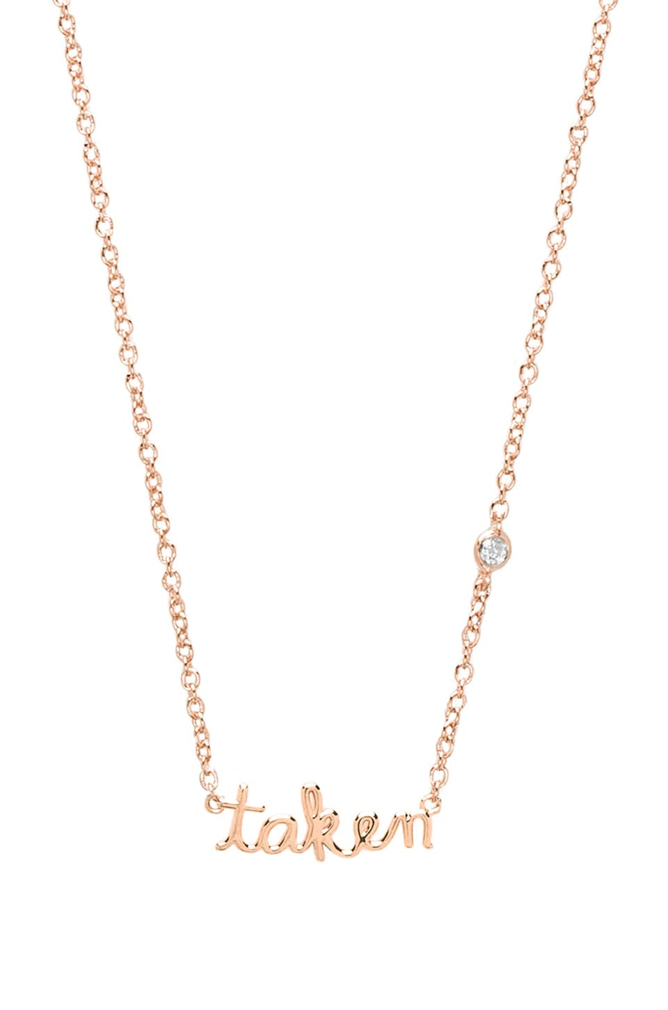 Shy by Sydney Evan Taken Necklace in Rosegold