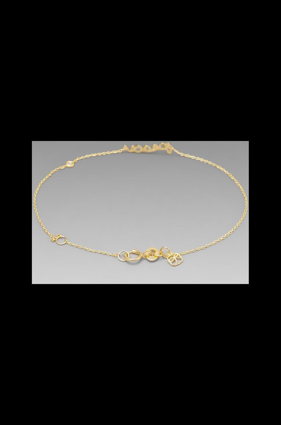 Shy by Sydney Evan Peace Bracelet in Yellow Gold