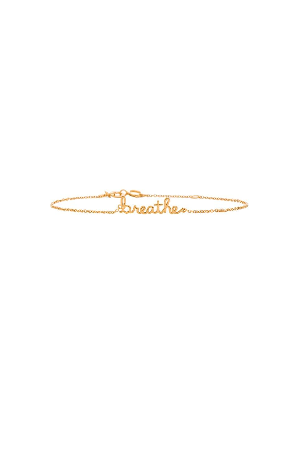 Shy by Sydney Evan Breathe Bracelet with Diamond Bezel in Yellow Gold