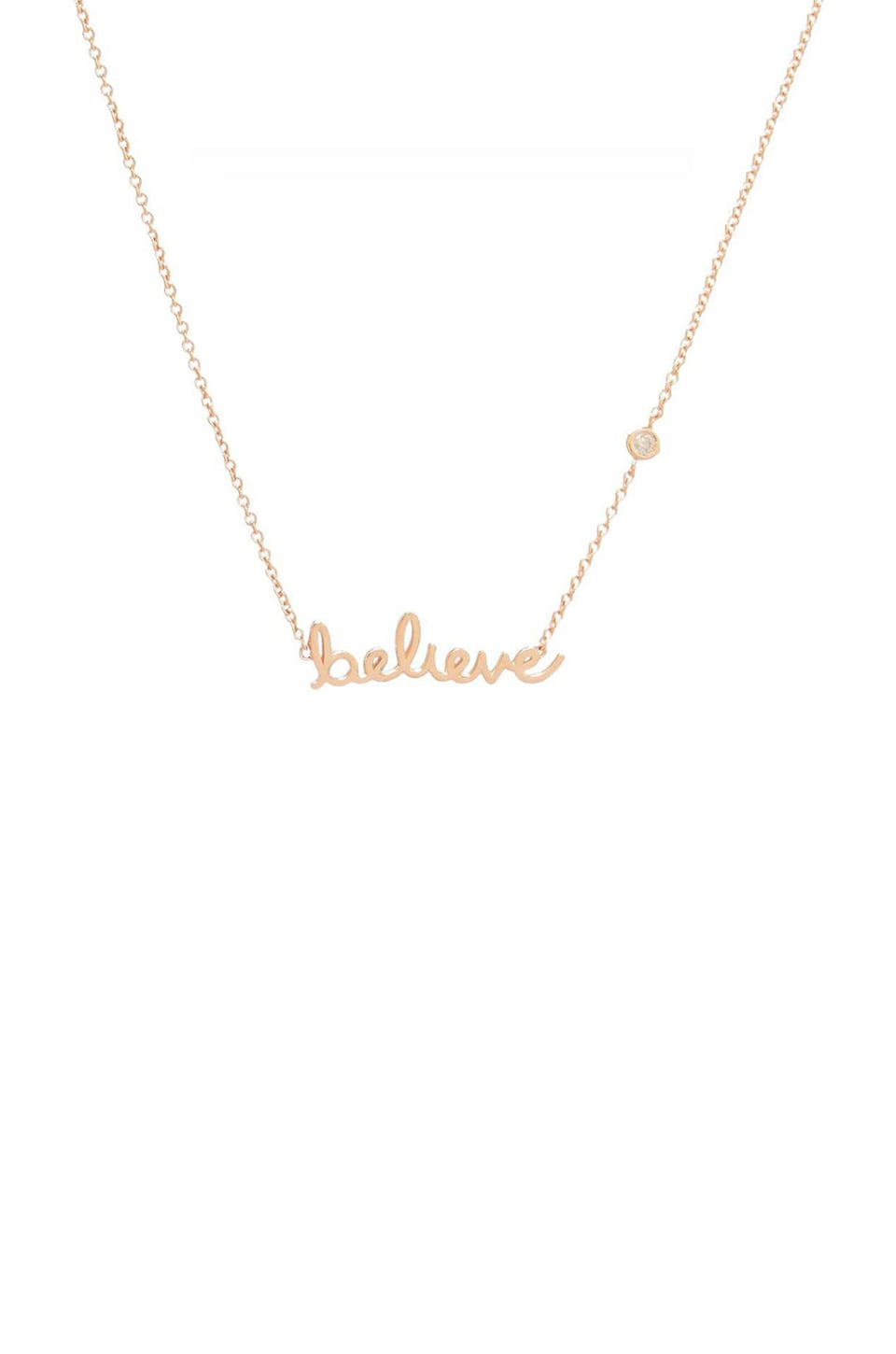 Shy by Sydney Evan Believe Necklace in Rosegold