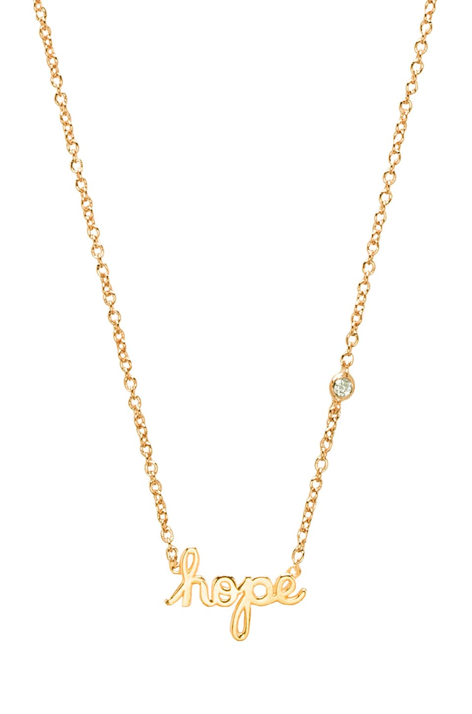Shy by Sydney Evan Hope Necklace in Yellow Gold