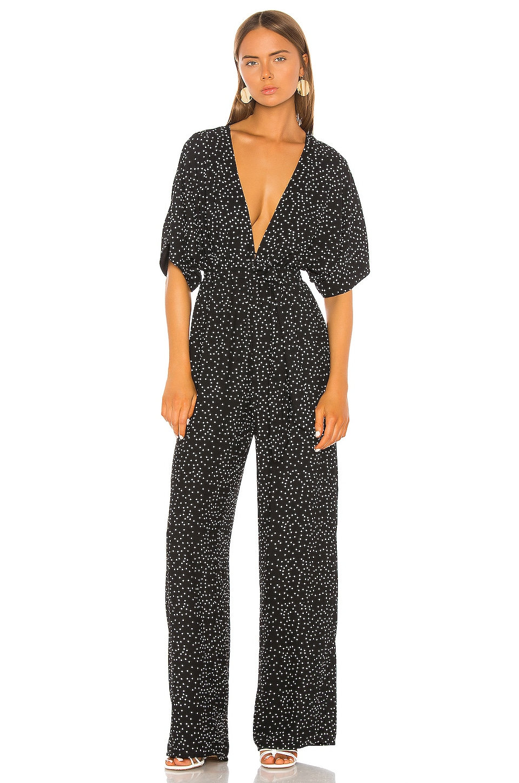 Shaycation x REVOLVE The Lisa Jumpsuit en Black White Dot